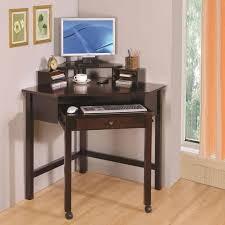 Corner Desk Computer Small Black Corner Desk Varnished Wood Computer Intended For