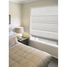 White Bedroom Blinds - windoware 210 x 210cm white charm blockout roman blind bunnings