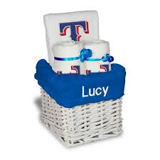 Pittsburgh Gift Baskets Texas Rangers White Personalized Small Gift Basket Mlbshop Com