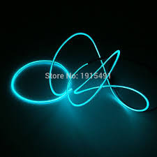 aliexpress com buy 1meter sky blue el wire tube 2 3mm neon