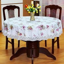 nappe cuisine plastique 1x ronde nappe accueil thé café couverture de table cuisine pvc
