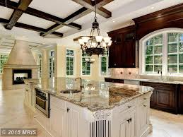 traditional kitchen with ms international azurite granite