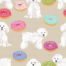 bichon frise cute bichon frise fabric cute donuts dogs fabric best dogs and donuts