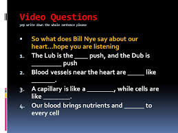video questions yep write down the whole sentence please ppt