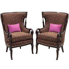 Antique Living Room Chairs Pair Of Antique Living Room Wing Arm Chairs Antique Living Rooms