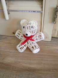 teddy ornament crochet teddy by thecookieclutch on etsy