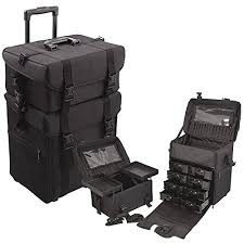 professional makeup artist bag glenor beauty 2 in 1 rolling wheeled professional makeup artist