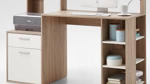 Schreibtisch F Computer Und Drucker Bolton Schreibtisch Bürotisch Pc Tisch In Eiche Und Weiß