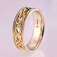two tone wedding rings celtic wedding band wedding band two tone wedding ring two