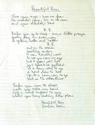 thebeatals lennon s written lyrics for beautiful boy