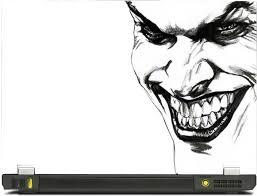 skinkart joker face sketch vinyl laptop decal 10 1 price in india