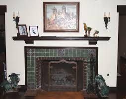 Hand Painted Fireplace Screens - antique wood burning fireplace with hand painted tile and custom