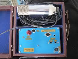 joachim wetzel rare vintage tube microphone with power supply