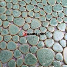 Mosaic Floor L Glazed Porcelain Tile Glass Pebble Mosaic Tile Ppmt044 Pebble