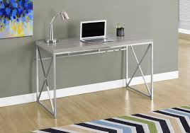 48 Office Desk Modern Taupe Chrome 48 Office Desk Computerdesk