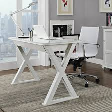 48 Computer Desk W Trends 48 Glass And Metal Computer Desk White Bj S