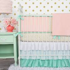 Mint Green Comforter Mint Green Bedding Luxury Baby Bedding With Green White Crib