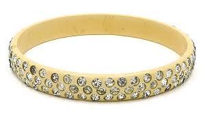 rhinestone bracelet images Vintage deco cream celluloid rhinestone bracelet jpg