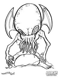 creepy coloring pages monster by mail and the coloring book of death