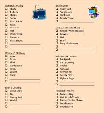 Packing List Template Excel Packing List Template 8 Free Sles Exles Format