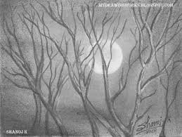 night pencil drawing rainbow the colour of life