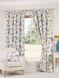 Blue And White Floral Curtains White Ready Made Curtains Uk Www Elderbranch