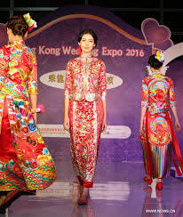 Traditional Wedding Dresses Chinese Traditional Wedding Dress Displayed At Hk Wedding Expo