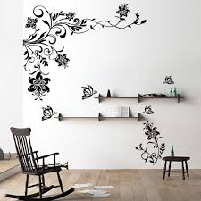 living room wall stickers butterfly vine flower wall decals vinyl art stickers living room