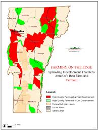 Map Vermont American Farmland Trust Resources Farming On The Edge Report