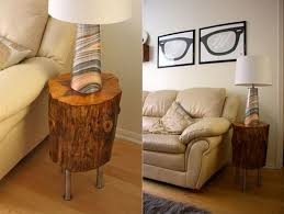 Natural Wood End Tables Natural Wood Stump End Table House Design