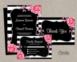 black and white striped wedding invitations 32 best floral black and white striped wedding invitations images