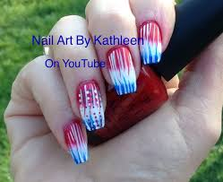 diy easy gradient american flag nail art design youtube