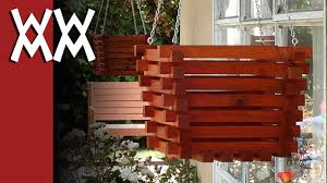 make a hanging planter out of wood youtube