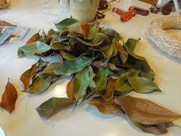 magnolia leaf wreath diy how to make a wreath using dried magnolia or fresh magnolia