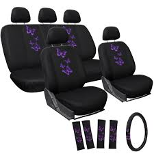lexus seat covers nz car seat cover for honda civic 17pc purple butterfly w steering