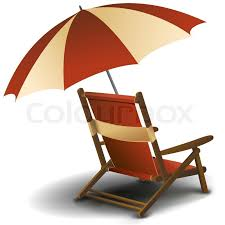 Chair Umbrellas With Clamp Illustration Of Beach Chair With Umbrella On White Background
