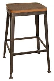 bar stools restaurant modern industrial simon metal restaurant backless bar stool
