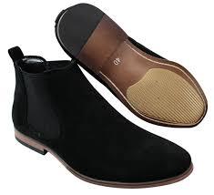 mens italian suede slip on ankle boots smart casual desert chelsea