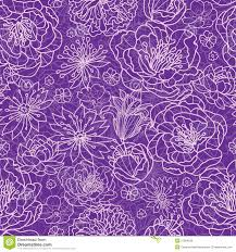 purple purple lace flowers seamless pattern background stock illustration