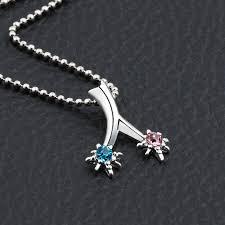 necklaces with your name anime your name miyamizu mitsuha comet pendant necklace blue gem