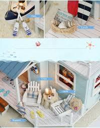 cuteroom a 037 a caribbean diy dollhouse miniature kit with light