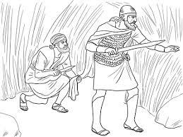 david cut off part of king sauls robe coloring google search