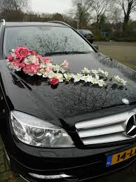 long floral arrangement decoration for wedding car silk