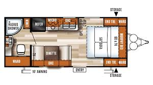 Rear Kitchen Rv Floor Plans by 2017 Forest River Salem Cruise Lite 171rbxl Model