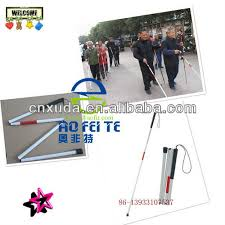 Blind People Stick Sale Folding Blind Cane White Canes Sticks For Blind People