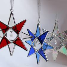 10 stained glass ornaments suncatchers bundle