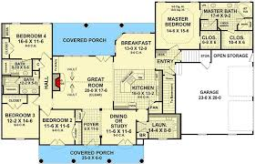 split bedroom house plans four bedroom split bedroom house plan 51063mm architectural