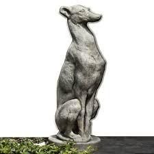 antique greyhound cast garden statue