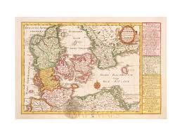 Copenhagen Map Kingdom Denmark Copenhagen Old Map Schreibern 1749