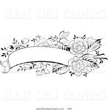 banner coloring pages vector illustration of a coloring page of a blank black and white